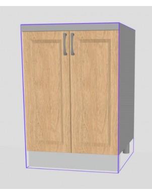 Base Doppia Anta per Cucina in Nobilitato H80 X L60/90 X P60