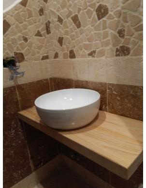 Tavole per piano lavabo in massello Colorato