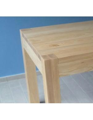 Tavolino in Legno Massello Naturale Rifinito ad Olio