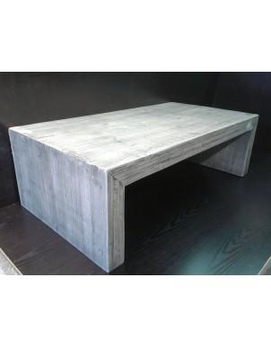 Tavolino Basso in Legno Massello Colorato