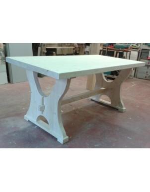 Tavolino in Legno Massello Naturale Rifitito ad Olio